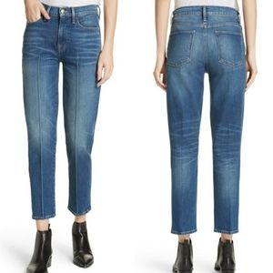 FRAME Le High Pintucked Straight Jeans size 27